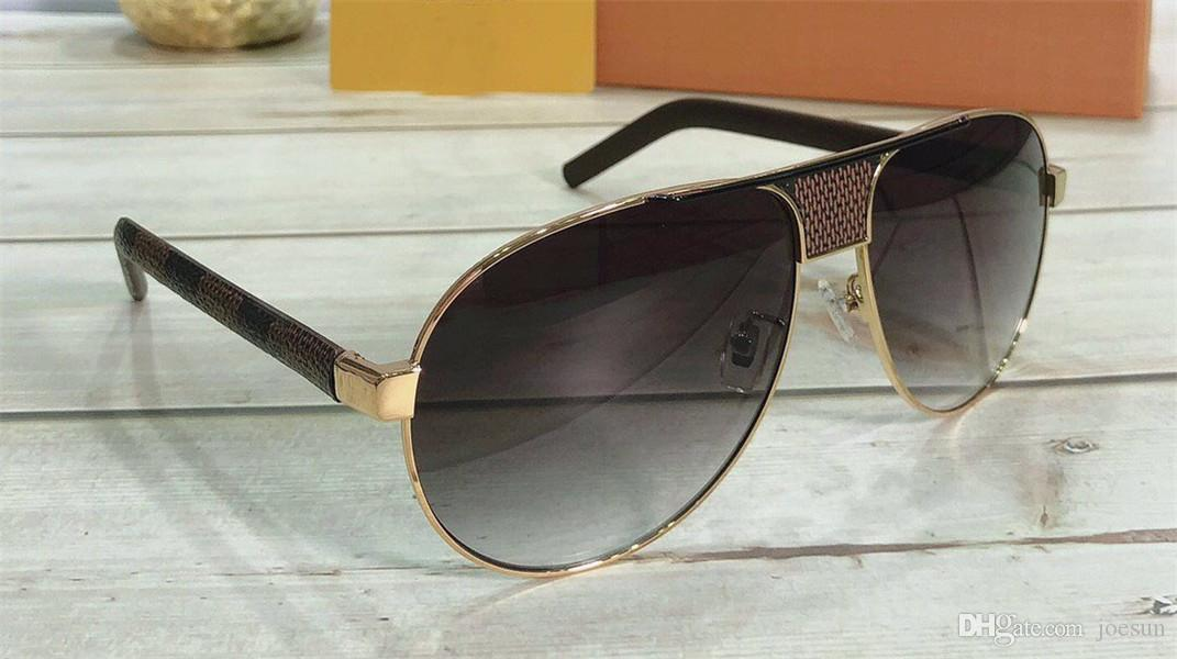 New fashion designer men sunglasses 1177 pilot metal frame best selling casual classic outdoor uv400 protective glasses