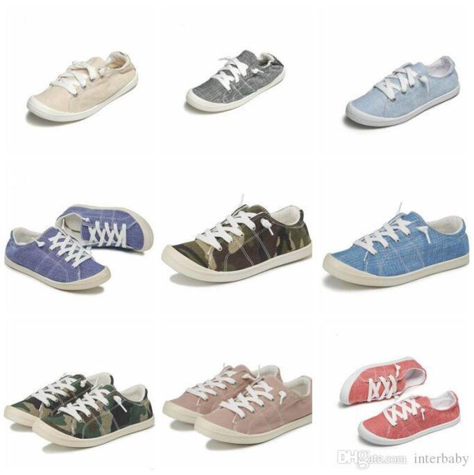 2020 Canvas Shoes Casual Flats Girls
