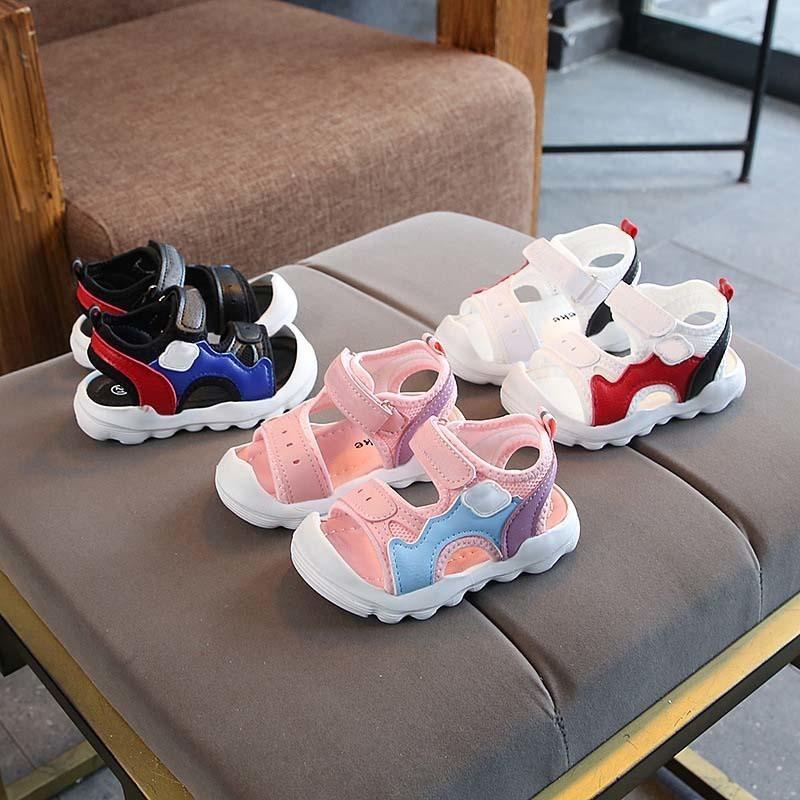 Neue Marken-Qualitäts-Babyschuh Art und Weise netten beiläufigen Baby-Mädchen-Schuh Led Infant Tennis S200107 beleuchteter Baby-Sandelholz-Edler kühlen