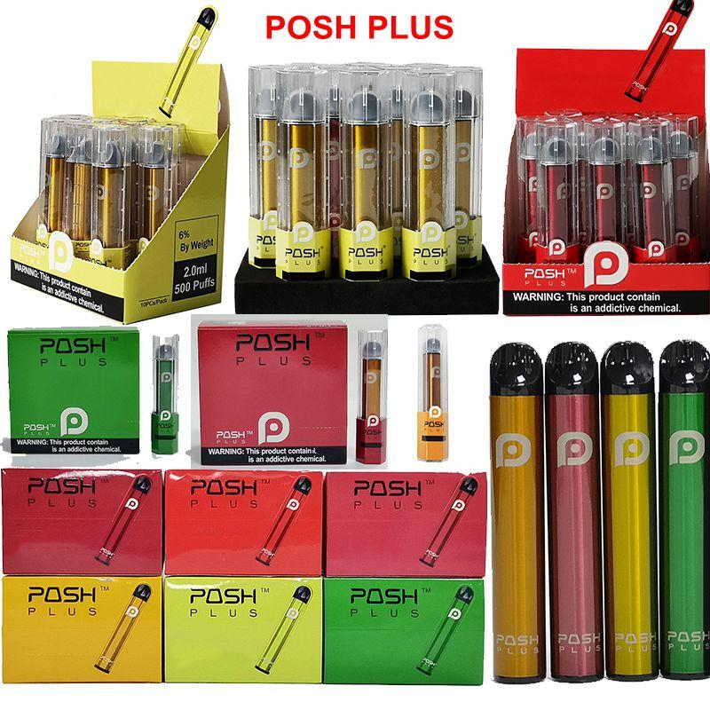 Newest Posh Plus Disposable Vape Pen Starter Kit 280mAh Battery 2.0ml Cartridges 8 Colors Empty Device Pod In Stock