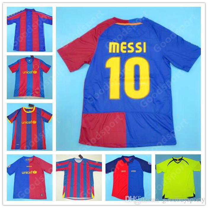 Retro 96 97 98 99 00 05 06 07 08 09 05 06 07 08 09 10 11 Messi Soccer Jerseys Xavi Rivaldo Camicie da calcio RONALDINHO HENRY A INESTA ETO'O RONALDO