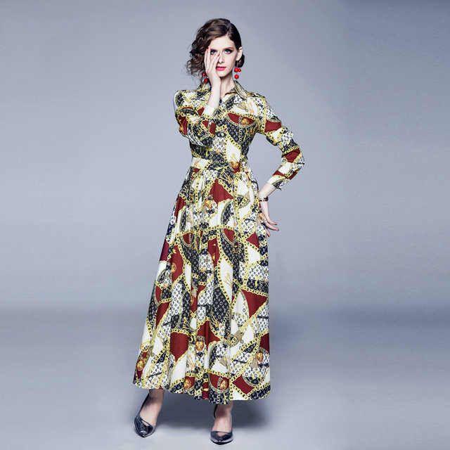 Para mujer vestidos del diseñador con Impreso manera de la llegada mujeres de la marca de manga larga vestidos Breve vestido ocasional de las mujeres Tamaño YF204241