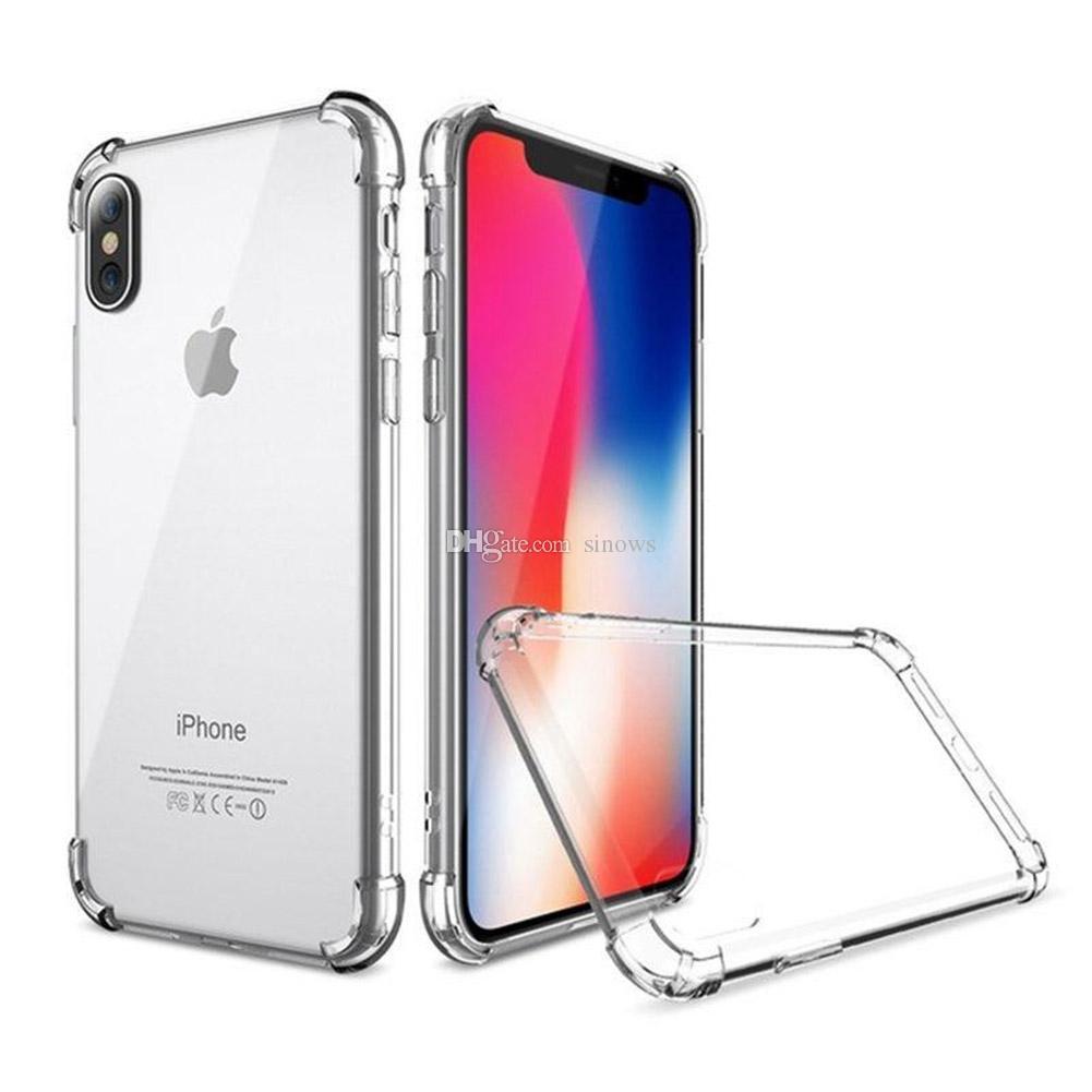 À prova de choque Dustproof macia transparente TPU caso do iPhone Por Para 11 Pro Max 8 Plus 7 6 6S Shell para o iPhone X XR XS Max tampa traseira
