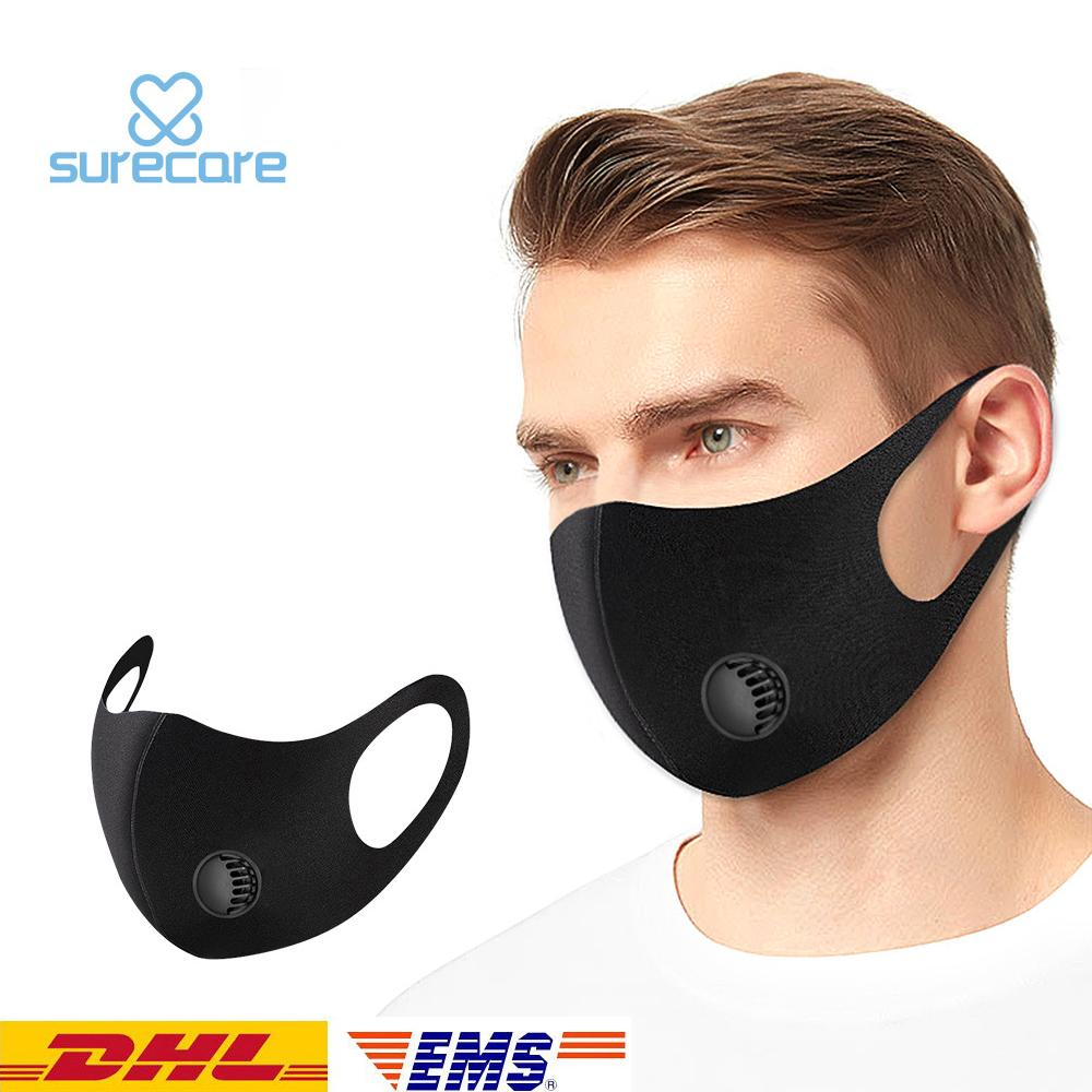 Women/& Men Cold-proof Cotton Face Masks Warmth Black Mask Half Face Mouth