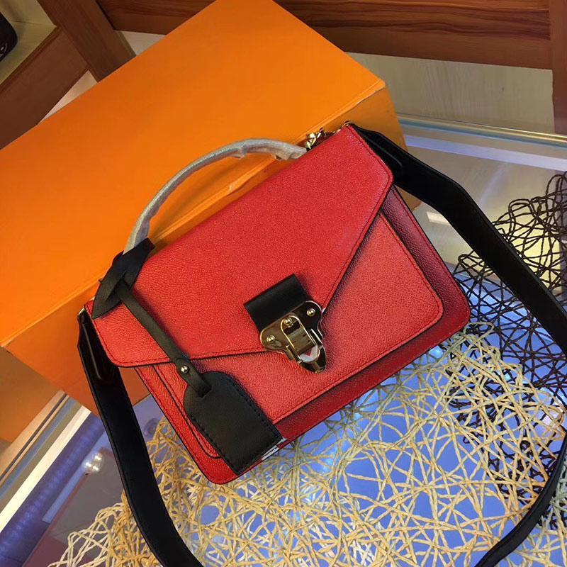 Umhängetasche Taschen Taschen echte Messenger Frauen Handtasche Druck Blumen Tasche Handtasche Leder Newset Klassische Crossbody Geldbörse XVTHB