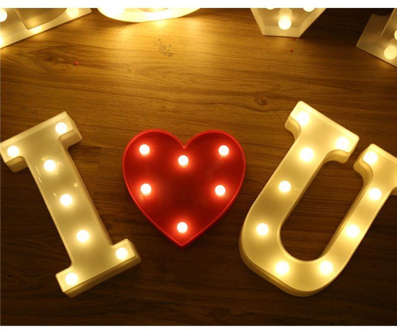 LED Light Up Letters Warm White LED Letter Light Up Alphabet Letter Lights for Bachelorette Party Wedding Receptions Holiday Home & Bath