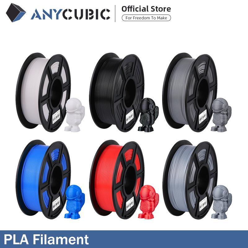 ANYCUBIC PLA нить 1.75 мм пластик для 3D-принтера 1 кг / рулон 6 цветов дополнительный резиновый расходный материал для печати