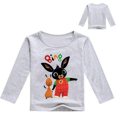2020 Kids Spring Autumn Clothes Children T Shirts for Boys Girls Long Sleeve Cartoon T-shirts Baby Tops Kids Bing Bunny Rabbit Tee