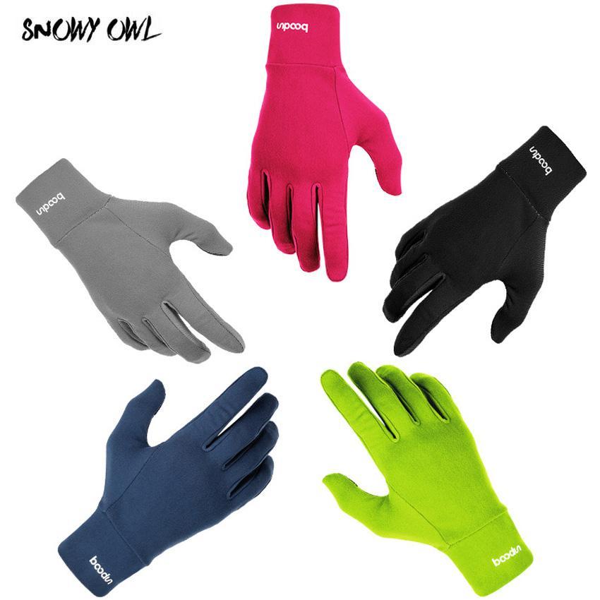 2018 Outdoor Sports Gloves Men Women Warm Windproof Cycling Hiking Climbing Running Ski Full Finger Screen Gloves 5 colors h23