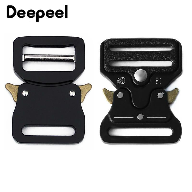 Deepeel 33 ملليمتر المعادن الجانب سريعة الإصدار أبازيم سبيكة أسود حزام الظهر في الهواء الطلق حزام المشبك هوك كليب الأجهزة ديي التبعي