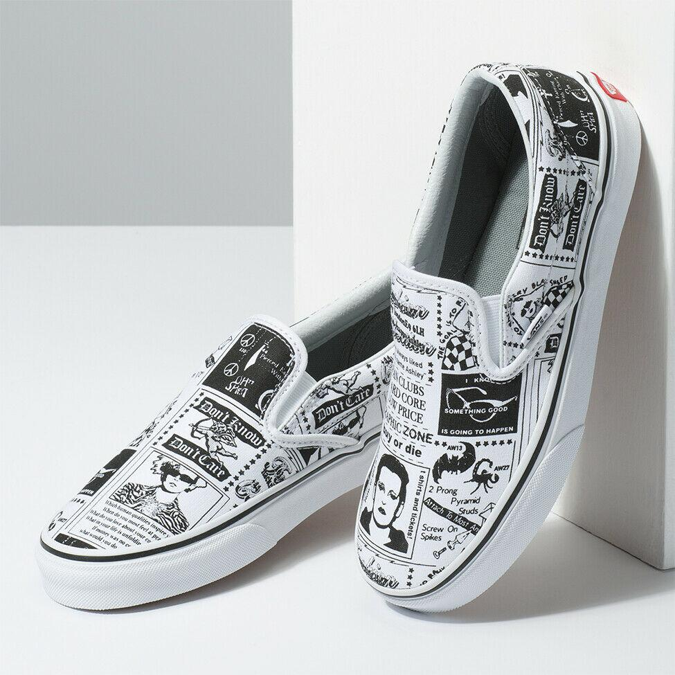 online retailer 5dda9 ba9d2 New VANS X ASHLEY WILLIAMS Slip On Newspaper White Sneakers Limited Edition  2019 Wedges Shoes White Shoes From Johnson_jo167, $30.58| DHgate.Com