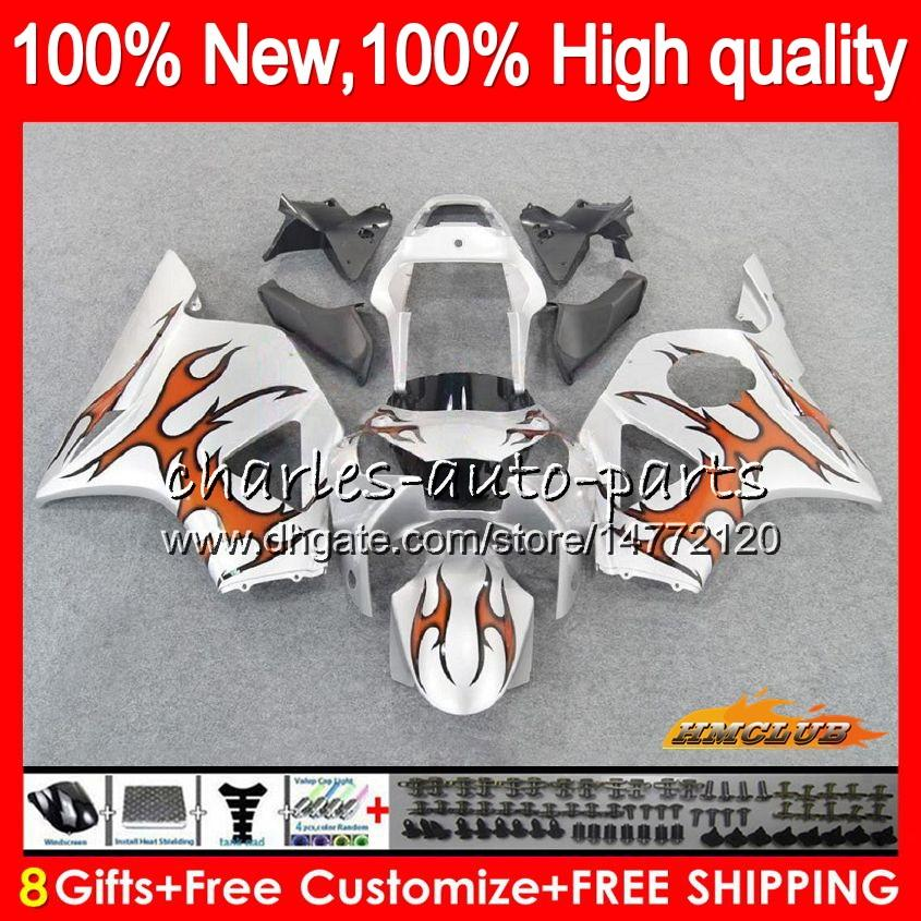 Body kit For HONDA CBR900RR CBR954RR orange silver CBR 900CC 954 900 CC RR 77NO.148 CBR 900RR 954RR CBR900 CBR954 RR 2002 2003 02 03 Fairing