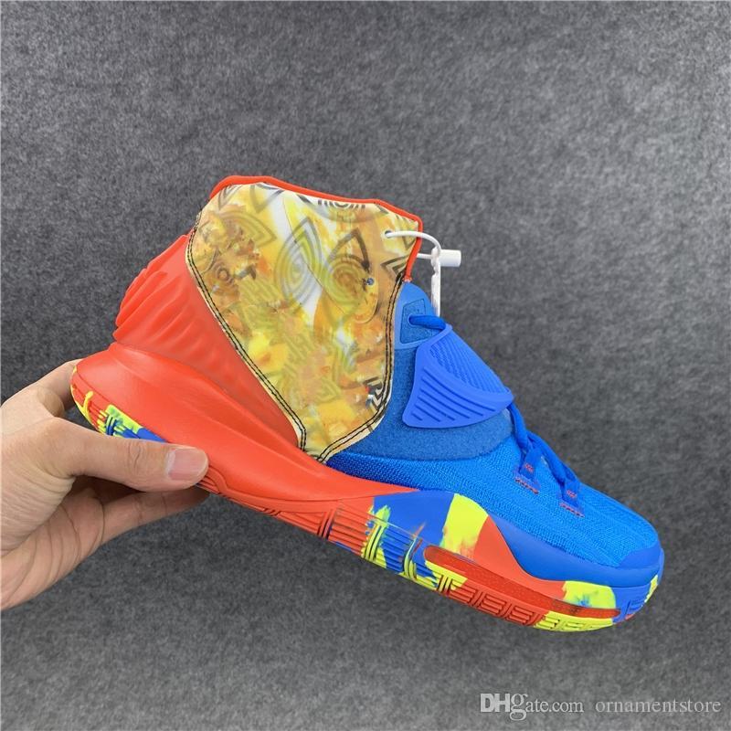 2020 nouvelle arrivée vente chaude de haute qualité 6s yeux bleus chaussures jaunes orange mailles douces femmes chaussures hommes taille 36-46