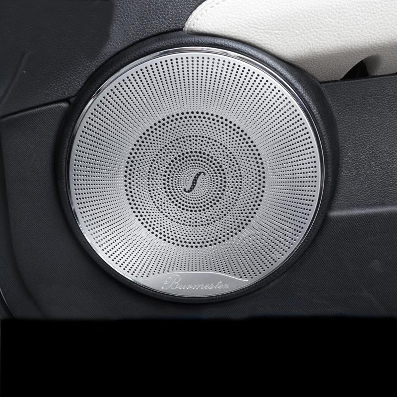 자동차 스타일링 4 개 자동차 오디오 스피커 자동차 도어 스피커 트림 커버 스티커를 들어 메르세데스 벤츠 C 클래스 W204 C180 C200 2008-2014 액세서리