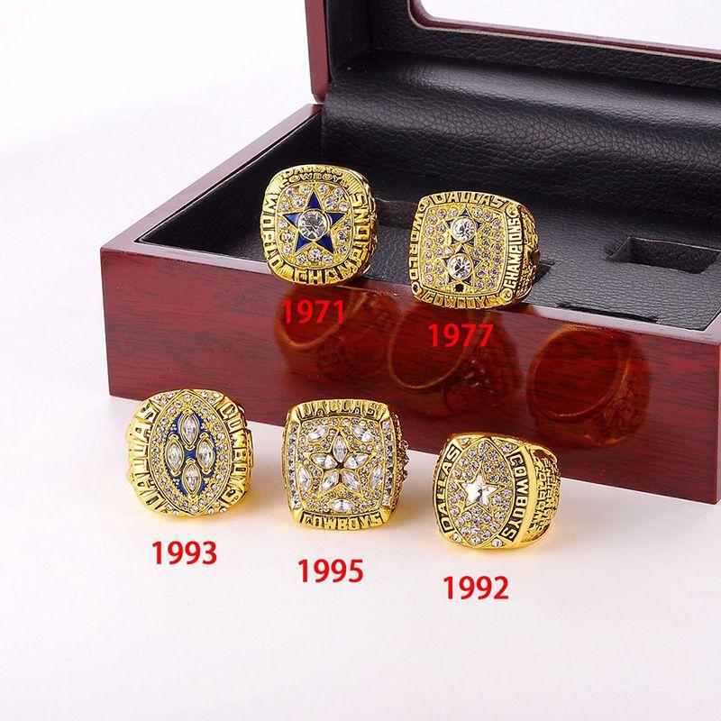 Regalo Fan all'ingrosso dei monili Champion Anelli Cowboys Football Championship anello di alta qualità Souvenir