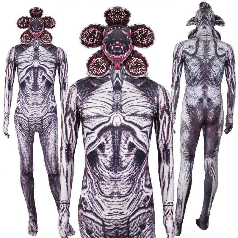 Costumes Dress Digital Printed Long Sleeved Costumes Movie Stars Cosplay Halloween Party Strange Things Demogorgon Catsuit