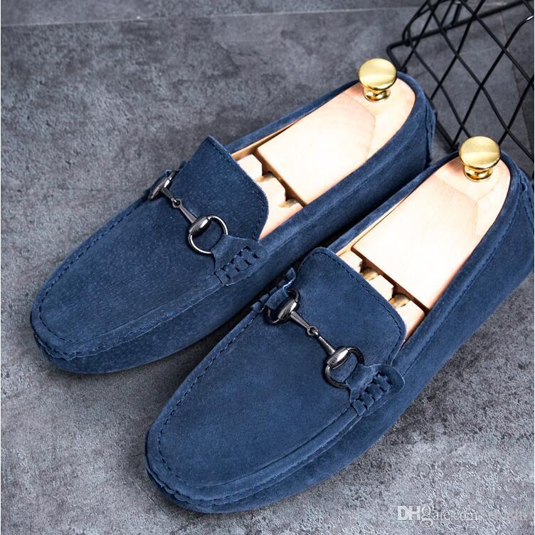 새로운 패션 골드 탑과 금속 발가락 남성 벨벳 드레스 신발 이탈리아어 망은 핸드 메이드 로퍼의 C21 드레스 신발