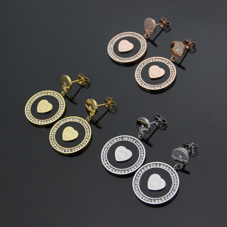 2019 New style Fashion Ear Nails Women's Ear Nails Love shape Earrings Fish Scale Sequined Earrings