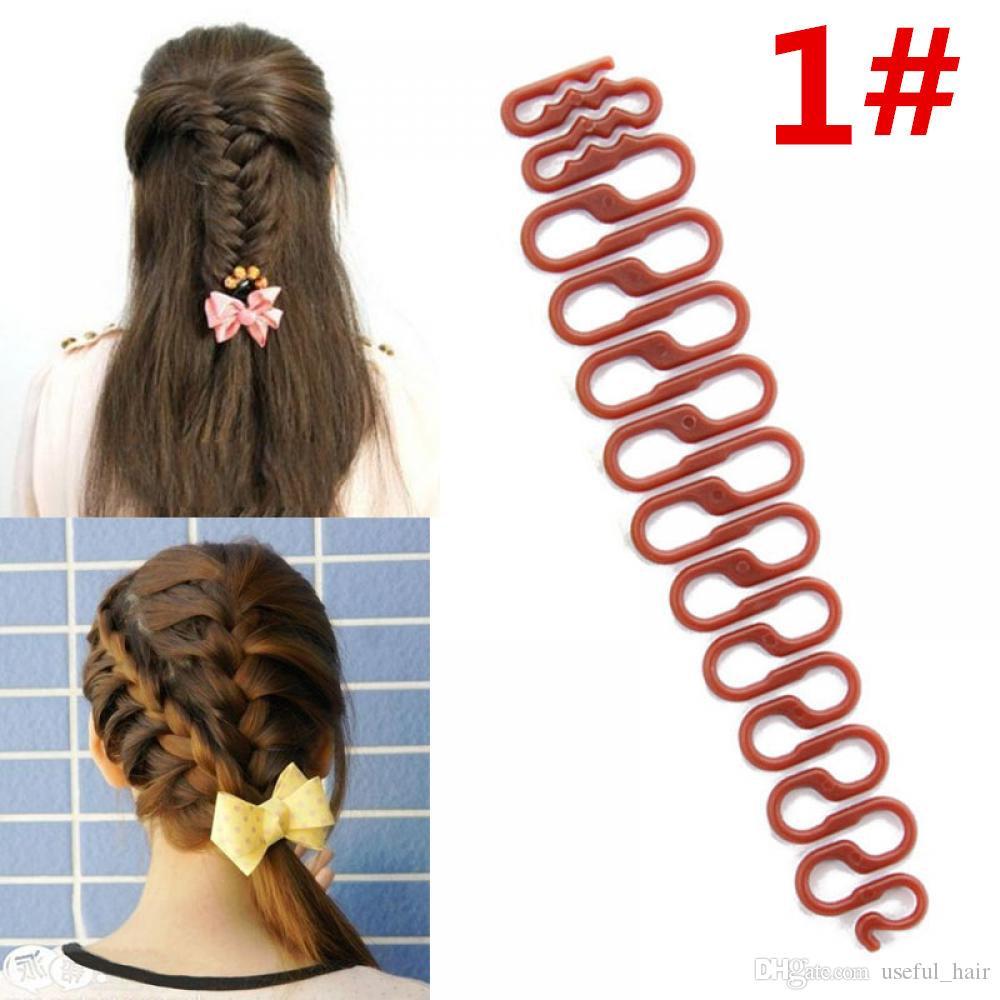 Fácil Tranças braider cabelo 6 estilos Senhora francesa Coque Criador trança Ferramenta Weave braider rolo do cabelo Torça Styling ferramenta DIY Acessórios