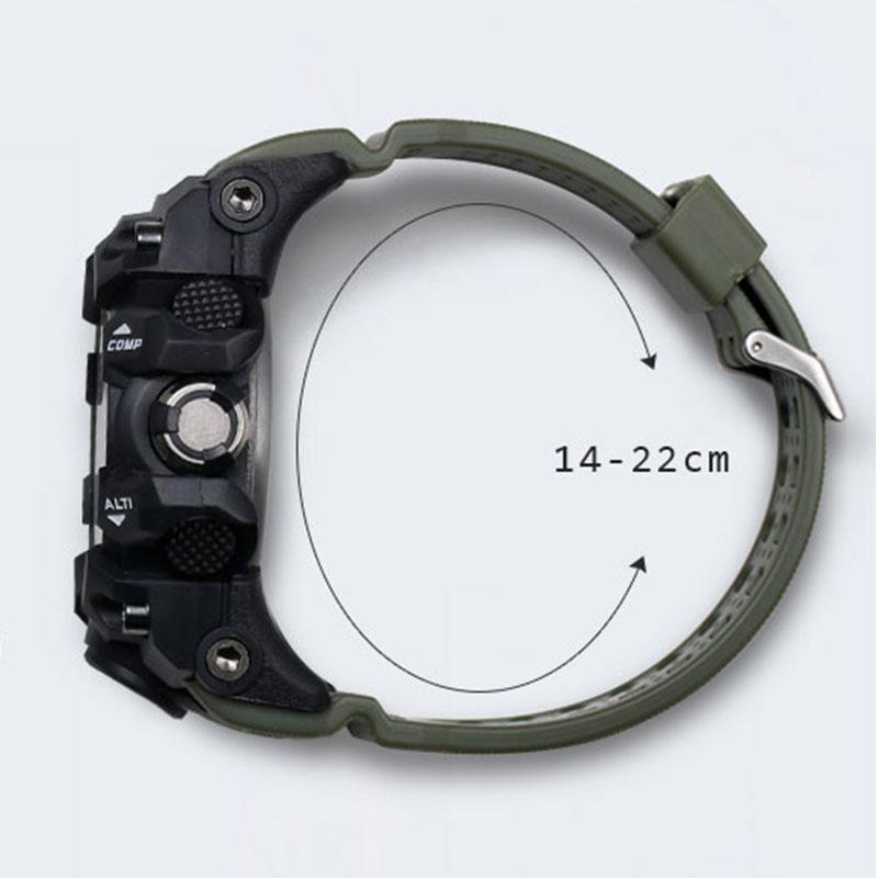 2020 Mens Watches Gold SMAEL Brand Watch S Shock Digital Wristwatch Alarm timekeeper 1545 Sport watch Dual Time Clock Men Militar