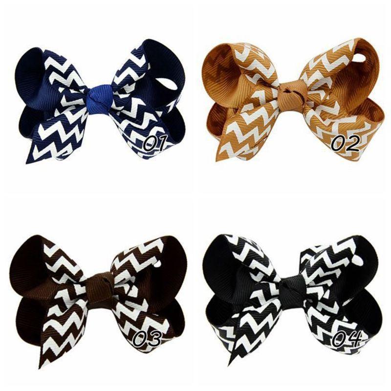 2020 joyas de la cinta costilla Hijos Hairclip rayas hecha a mano arco de Hairclip