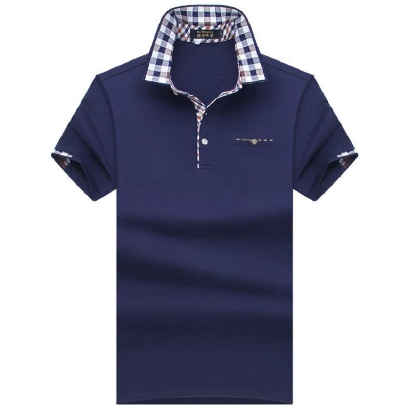 2018 поло мужская рубашка мужская с коротким рукавом твердые рубашки Camisa Polos Masculina повседневная хлопок плюс размер 7xl 8xl 10xl бренд топы тройники C19041501