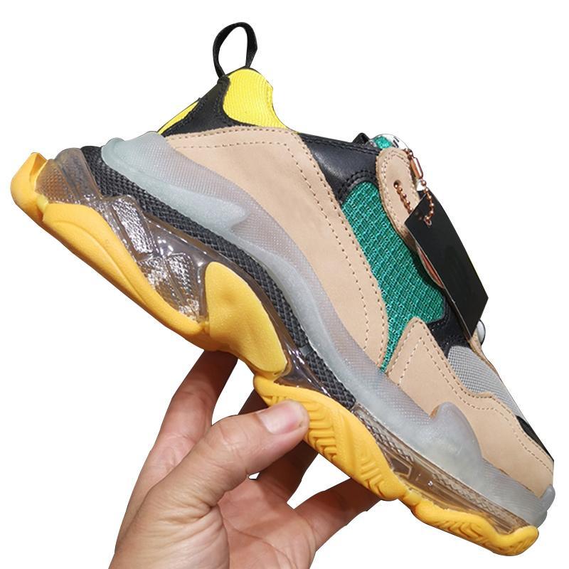 Haute Qualité Mode féminine Chaussures de design de luxe Chaussures Femmes Chaussures de basket Triple S Sneakers respirante chaussures casual Taille Type6 35-40