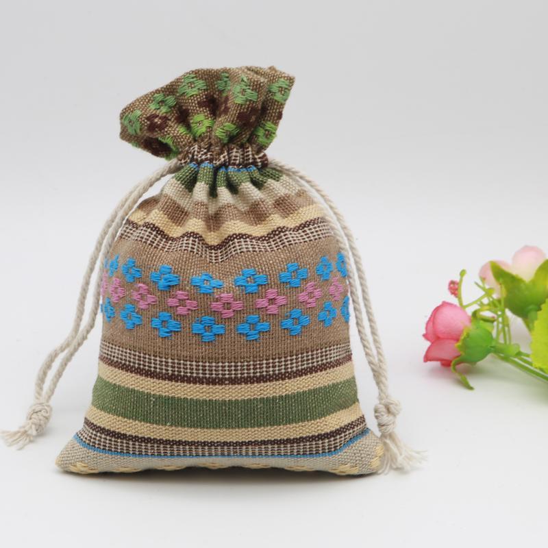 Trasporto libero verde stringhe di cotone borse corde stringhe borse 10x14 cm 50 pz / lotto per gioielli braccialetto collana sacchetti di imballaggio