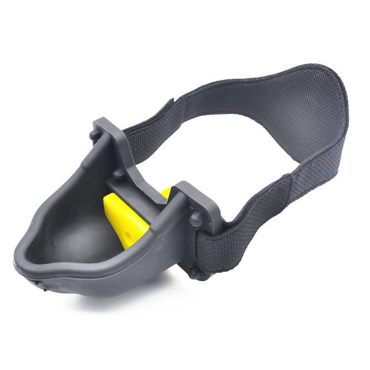 BDSM Silicone Piss Gag with Trough Mouth Bite Gags with Strap Bondage Heavy Play Adult Sex Toy for Couples Black Red XCXA331