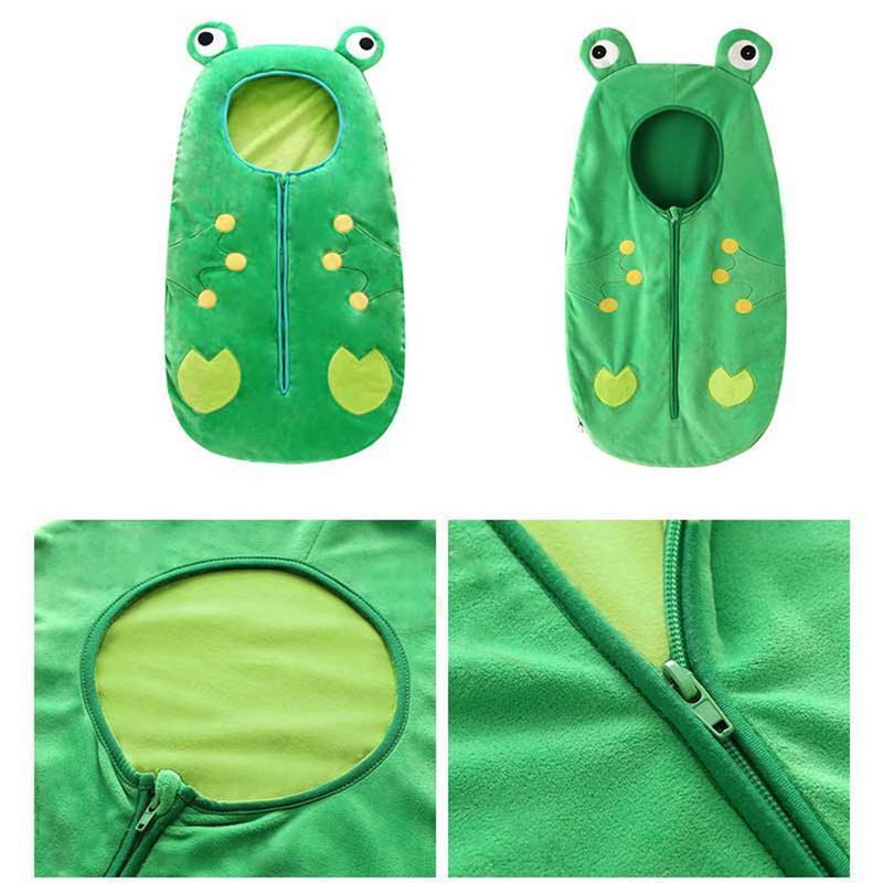 Детские спального мешок Anti-ноги Холодостойкого лето Одеяла мультфильма лягушка шаблон Открытого Одеяло