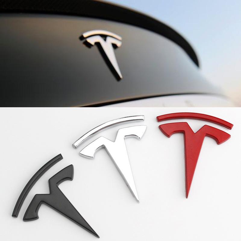 Tesla Car metallo 3D Adesivi Tesla Model S 3 X Bagagliaio posteriore Stickers Rimontare distintivo dell'emblema Sticker Accessori