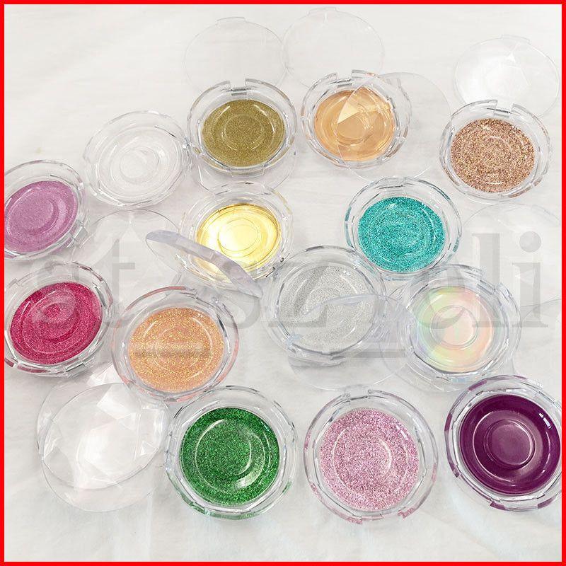 Shimmer Round Lashes Box 3D Mink Eyelashes Boxes Fake False Eyelashes Packaging Case Empty Eyelash Box Cosmetic Tools