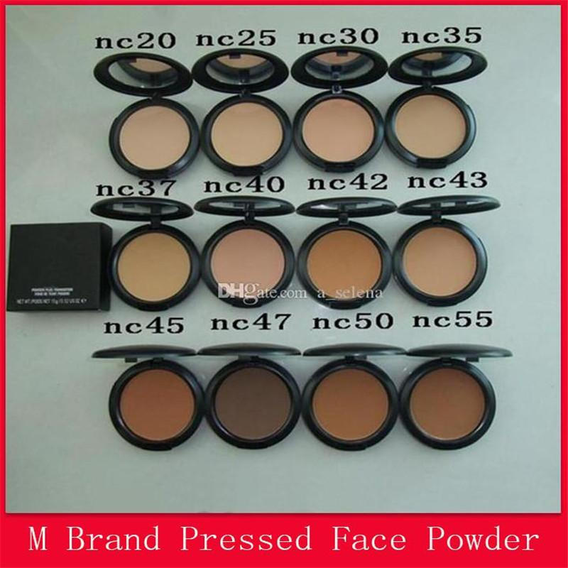 Famous M Brand Face Makeup Powder Plus Foundation Pressed Matte Natural Make Up Facial Powder Easy to Wear