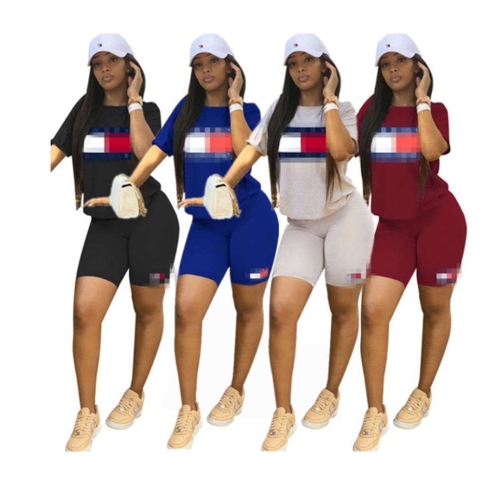 kadınlar 2 parçalı set eşofman gömlek pantolon kıyafetler kısa kollu gömlek pantolon kazak taytlar spor spor 009 uygun eşofman