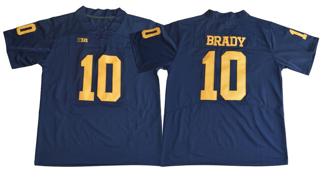 2021 NCAA Michigan Wolverines #10 Tom Brady #2 Charles Woodson ...