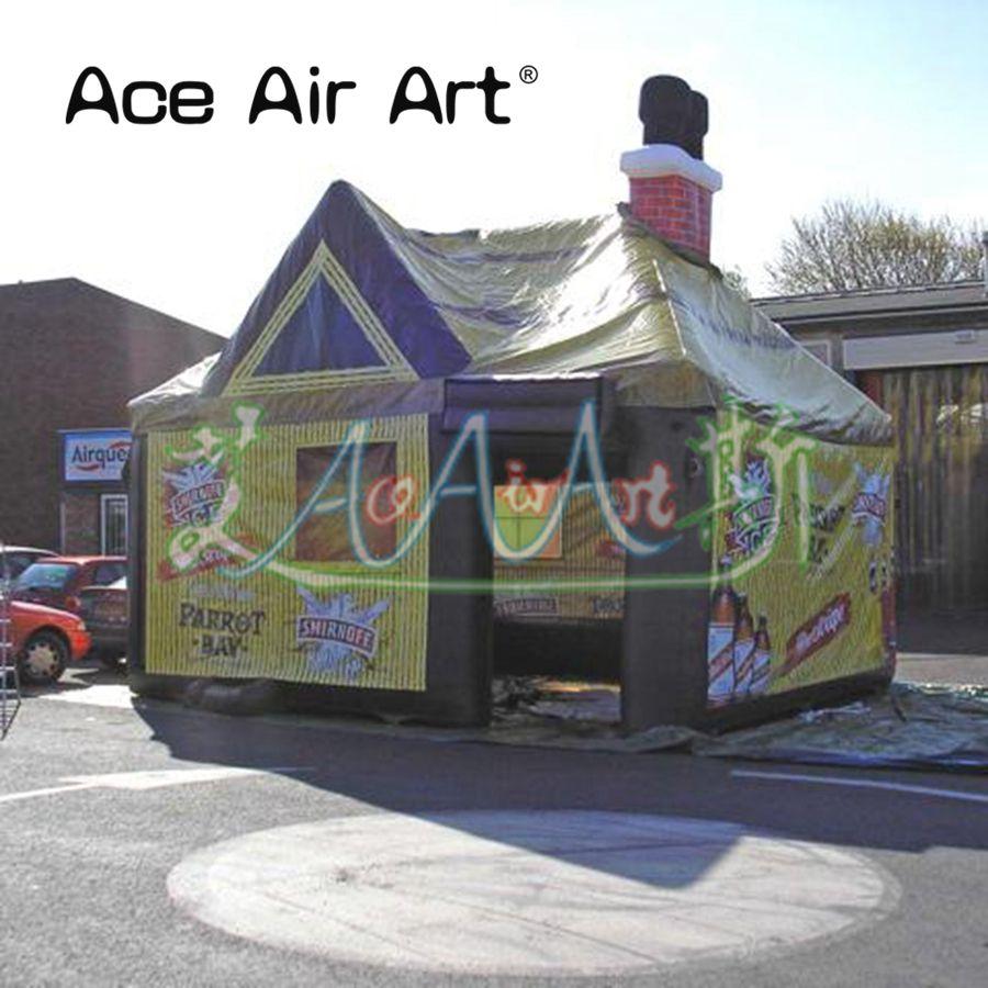 новый дизайн открытый большой надувной паб палатка, иглу бар палатка, палатка для продажи