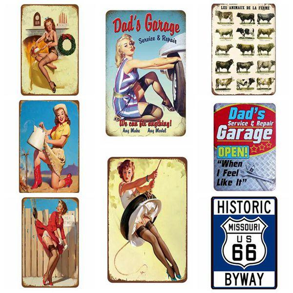 30X20cm Man Cave Vintage Metal Poster Motorcycle Cheers Retro Wall Stickers Home Decor For Bar Pub Club Tin Signs Free Shipping
