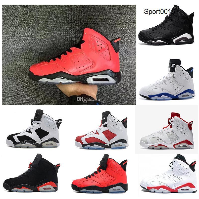 Горячие продажи 6 новых мужчин обувь баскетбол белый Infared черный спортивный синий Oreo Olympic Maroon 1sport синий спортивные туфли размер 40-47