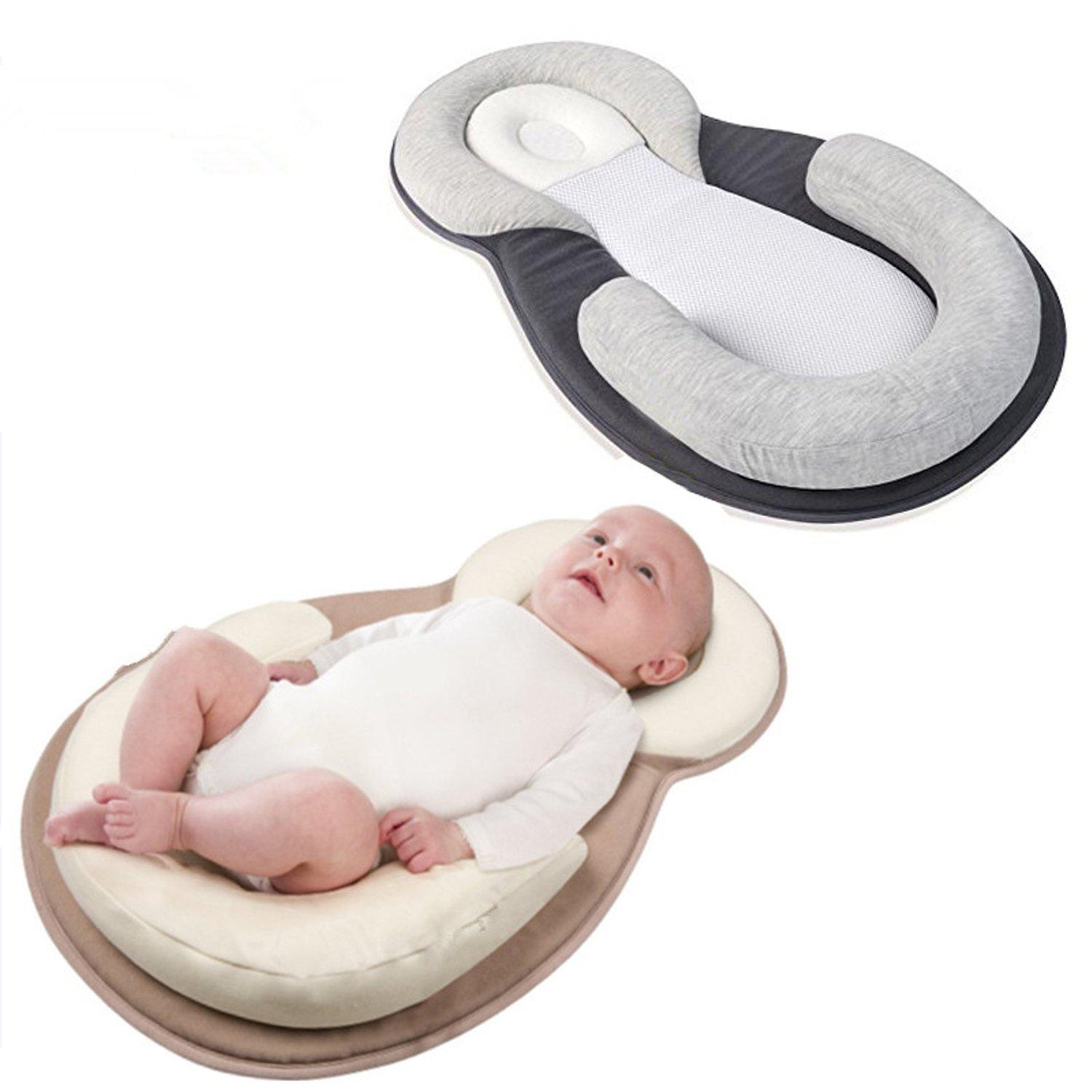 Infant corretta anti emicrania Infant Cuscino Dormire Pillow Ding Wei Zhen bambino Cuscino Anti-Overflow Latte