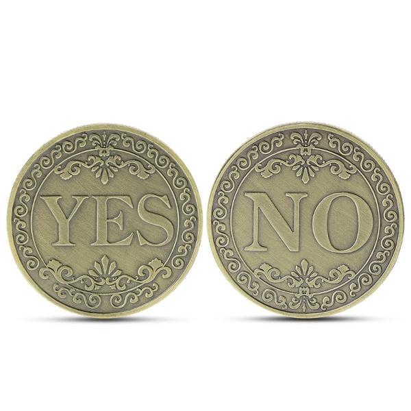 Commemorative Coin Floral YES NO Letter Ornaments Collection Arts Gifts Souvenir XVM
