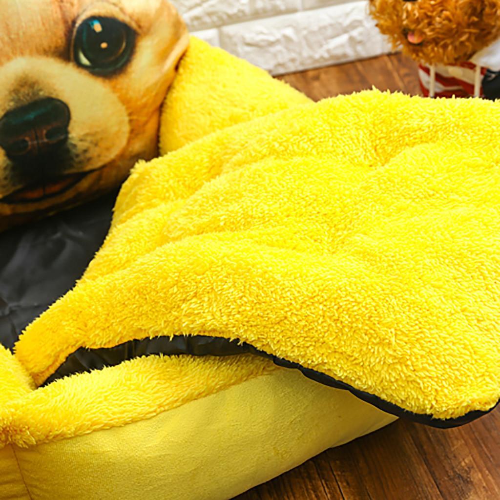 Cómodo cálido colchón gato patrón del gato Camas con estilo del animal doméstico de la litera de la nueva manera suave lavable de la perrera del perro casero de sueño profundo gota de la nave