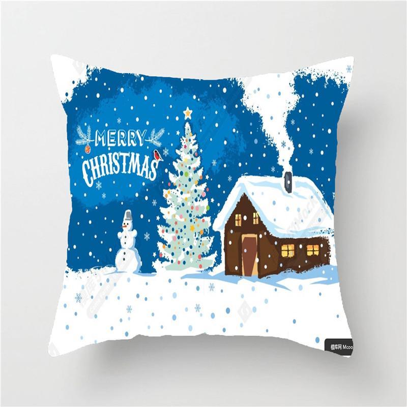 2020 Anno nuovo Neve congelata Accessori per la casa Decorazione Ornamenti di Natale Navidad Natal Fodera per cuscino Decorazioni natalizie per la casa