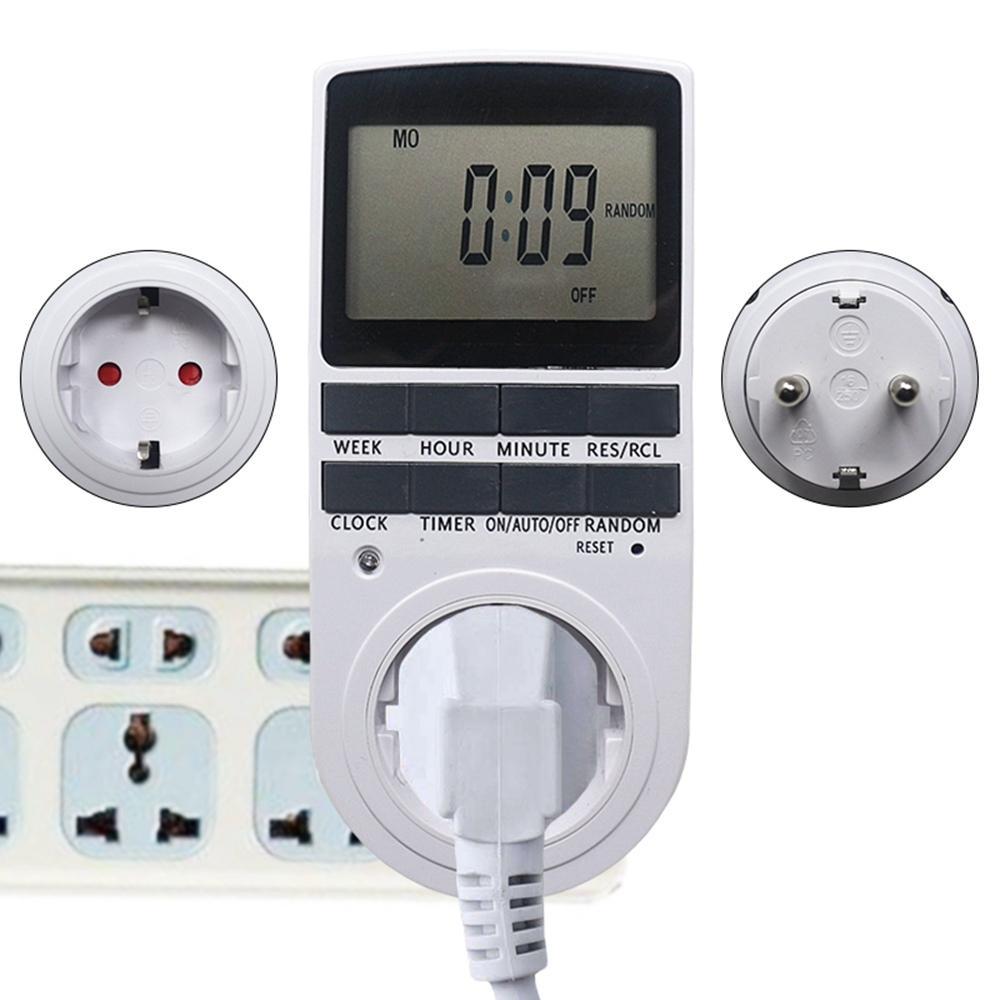 s Programmer Timer Socket Timer Switch EU Fr BR UK Plug Electronic Timer Outlet Digital Kitchen Plug Sockets 7 Day 12/24 Hour