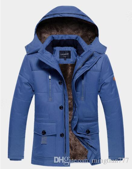 2018 Brand New Removeable Raccoon Fur Mens Arctic Down Parka Warm JACKET thick outdoor Winter Coat