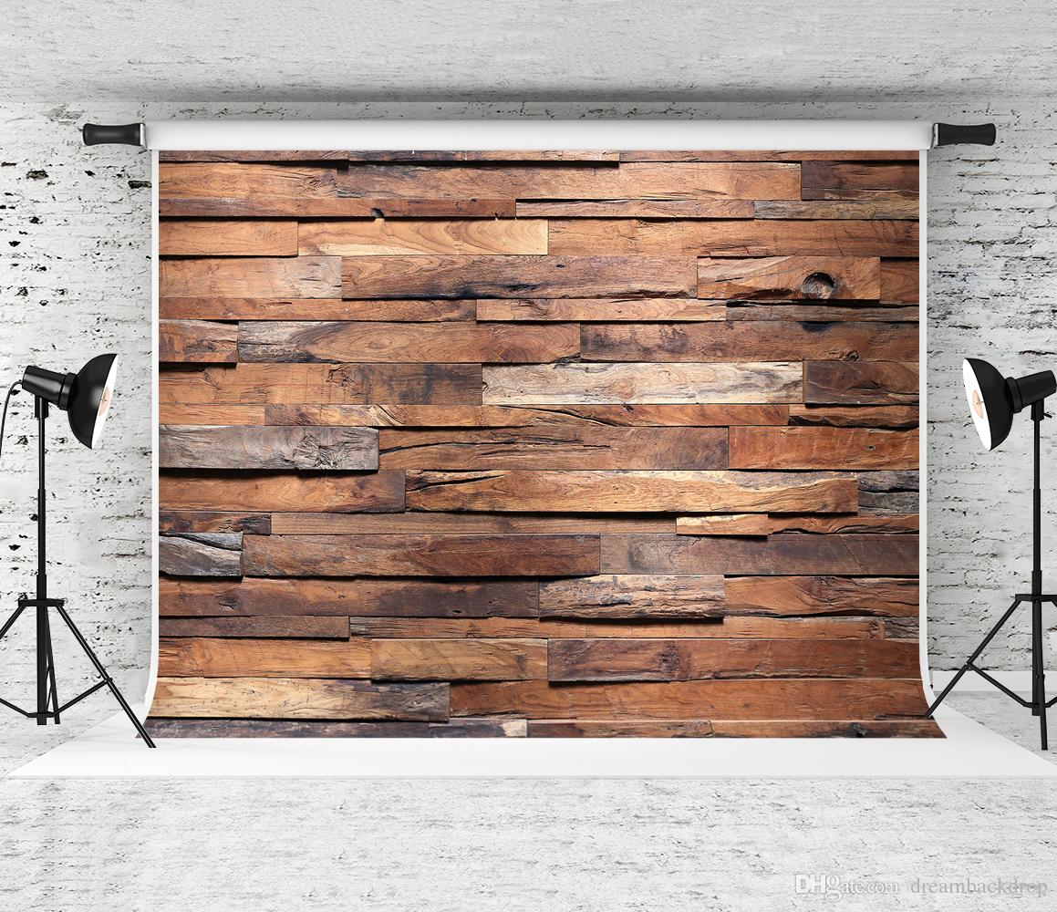 Dream 7x5ft Retro Wood Texture Photography Backdrop Wooden Decoration Background for Photographer Portrait Photo Booth Wooden Studio