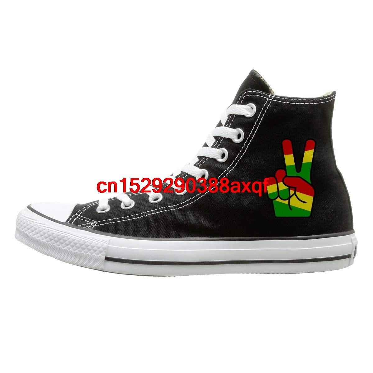 Mens Rasta Shoes Fashion Trainers Lace Up Shoes