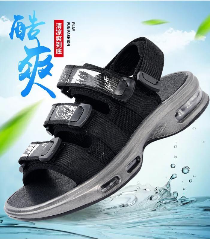 Неоклассический мужчины и женщины в стиле пара сандалии на открытом воздухе походов летом нескользящей обувь пляж обуви мужчина удобный мягкий свободный корабль