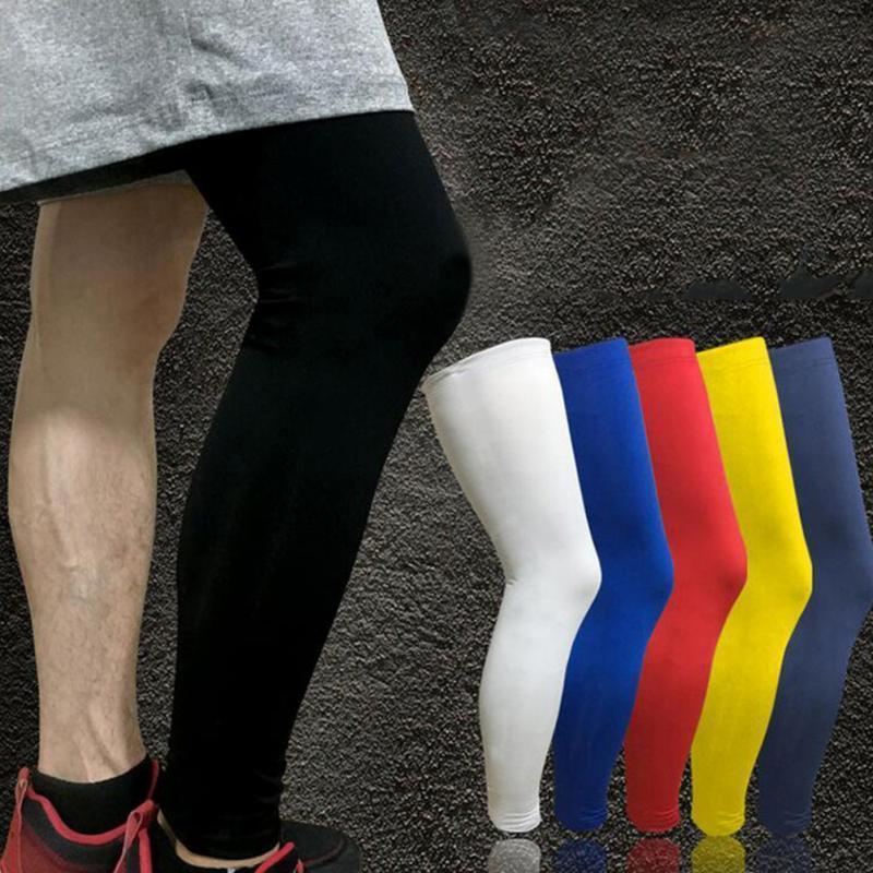 جديد اللياقة ضغط الساق الأكمام العجل الحرس الرجال النساء الرياضة كرة السلة تشغيل الدراجات الساق حماية طماق