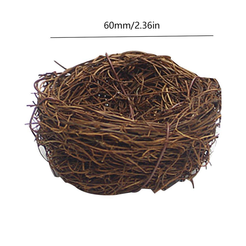 O ninho de pássaro Páscoa do Rattan Nesting Bird Nest Props Artesanato Henhouse Início Decoração Natural Handmade