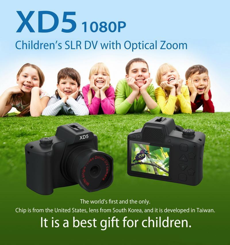 Mini Digital Kids Cameras 2.0 Inch IPS HD Colored Screen Kids Camera Children children's SLR DV with optical Zoom